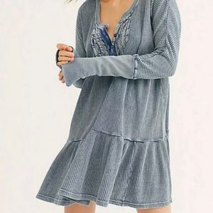 NWT Free People Jolene Mini Dress S Small Blue